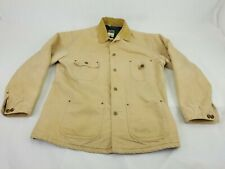 Carhartt Jacket C02 WET TAN Corduroy Collared Men MEDIUM Blanket Lined Barn USA