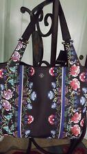 Vibrant Nanette Lapore Athena Shoulder Tote Bag, Black w/Floral NWT $128.00