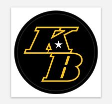 "KB Kobe Bryant Decal Sticker for Car, Laptop, Window, Bumper Lakers 3"""