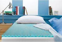 Queen Size 3 Inch Beautyrest Cooling Memory Foam Topper Mattress NEW