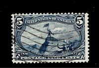 U.S.1898 Sc# 288 5  c Trans Mississippi Used - Light Cancel - Crisp Color