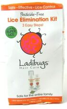 Ladibugs Lice Treatment Kit - 3-Step Elimination, Serum, Mousse, Comb, NEW