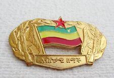 ORDEN ÄTHIOPIEN SELTENES ETHIOPISCHE DERG PARTEI ABZEICHEN-MILITÄRMEDAILLE !