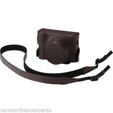 Panasonic DMW-CLX100 Brown Leather Look Case for Lumix LX100 with strap dmc-lx10