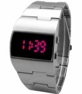 NEW 2021 Military Fashion Digital Electronic Red LED Men Wrist Watch Luxury