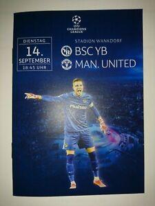 2021/22    Young Boys Berne  v  Manchester United  -  MINT  -  14/9    Programme