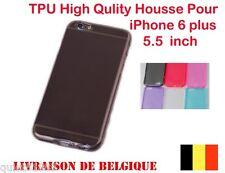 COQUE HOUSSE ETUI POUR IPHONE 6  Plus SILICONE GEL TPU TRANSPARENT Noir