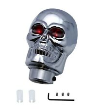 Chrome Skull Red Eyes Handle Gear Shift Knob Lever Column Floor Shifter Hot Rod
