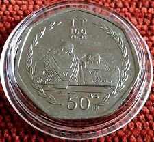 Isle of Man TT 100 Years Dave Molynuex 50p Coin 2007 in Prot Capsule