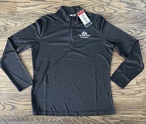 FARMERS INSURANCE WOMENS 1/4 ZIP PULLOVER 2XL BLACK LONG SLEEVE NEW WITH TAGS!!!