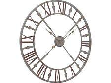 Reloj de Pared Antiguo Acabado Gris Hierro Geométrico Esqueleto Números Romanos 73cm
