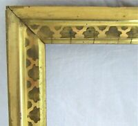 "ANTIQUE Fits 8"" X 10"" LEMON GOLD GILT STENCILED FRAME FINE ART VICTORIAN"