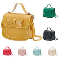 Child/Kid/Girl Leather Bow Handbag Crossbody Shoulder Messenger Bag Purse Wallet