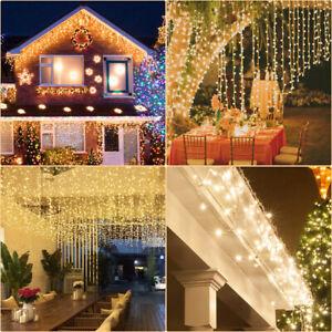 LED Lichterkette 40-1000 LEDs Weihnachtslichterkette Eisregen IP44 Innen & Außen
