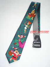 Flintstones 1993 Ralph Marlin Made in USA Christmas Men's Necktie Neck Tie NEW