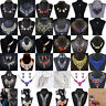 Fashion Charm Crystal Choker Chunky Statement Pendant Bib Necklace Chain Jewelry