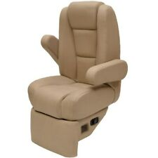 Godfrey Boat Captains Helm Seat | Sweetwater Reclining Footrest Tan