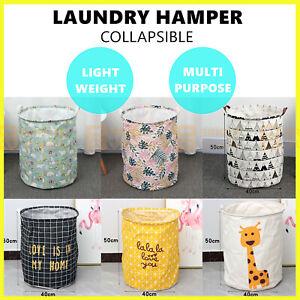 Collapsible Laundry Hamper Basket Storage Clothes Bag Washing Bin Toy Organiser