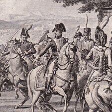 Gravure XIXe Napoléon Bonaparte LONATO Campagne d'Italie André Masséna 1825