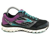 Brooks Ghost 9 Black Purple Teal Athletic Running Shoes Sneakers Women's Size 10