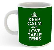 Keep Calm And Love Table Tenis  Mug - Green