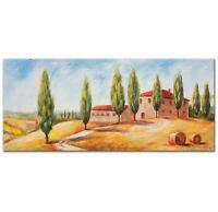 100% Handgemalt Acryl Gemälde handgemaltes Wand Bild Kunst Leinwand Toskana