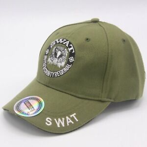 Baseball Cap SWAT Hat Adjustable 1200 Green