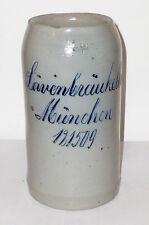 Alter Brauereikrug Löwenbräukeller München Bierkrug Krug stein beerstein Bier 1L