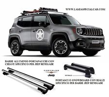 KIT PORTASCI O SNOWBOARD SPECIFICO PER JEEP RENEGADE completo di BARRE TETTO .