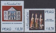 Perù 1074/75 1996 Nascita di Huamanga I tre reali magi Natale MNH