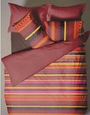 DOUBLE BED DUVET COVER SET RIO SPICE / STRIPES / YELLOW / LILAC / PINK / FUNKY