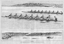 ROWING, YALE HARVARD BOAT RACE AT NEW LONDON, THE START