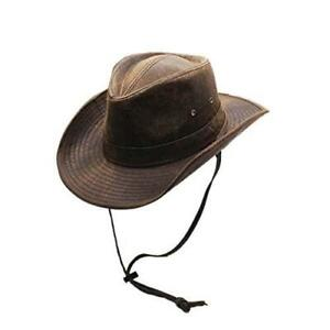 Silver Canyon Men's Weathered Outback Outdoor Shapeable Hat, Large - Brown