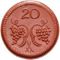 Münsterberg Schlesien - Ziębice - Münze - 20 Pfennig 1921 - Meissen - Porzellan