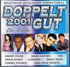 Doppelt Gut 2001 / Deutsche Hits - 2 CD - Interpreten & Songs s.Foto