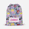 Personalised Girls Superhero Kids Swimming School Childrens Drawstring Bag