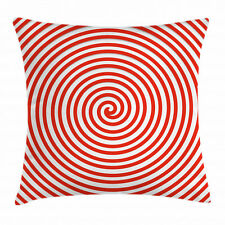 Red Throw Pillow Case Spiral Concentrate Line Square Cushion Cover 20 Inches