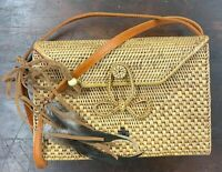 Rattan Bags for Women Handmade Wicker Woven Purse Handbag Circle Boho Bag Bali