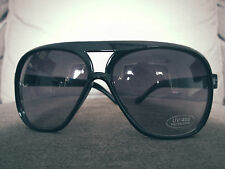 Men's Black Oversized Aviator Sunglasses Retro Vintage Dark new style DG Thick