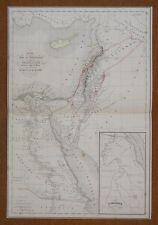 Map Carte Egypte et Palestine jusqu'au temps de Moïse Atlas Delamarche 1846