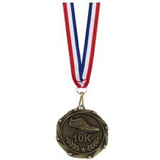 10K Running Medal 45 mm + Ribbon Engraving up to 30 Letters Option of Box