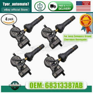 Set of 4 For Mopar 68313387AB TPMS Tire Air Pressure Monitor Sensors 68313387AC