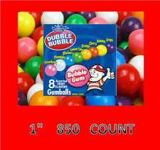 """Dubble Bubble 1"""" Gumballs  850 Count Candy Vending FREE LABEL"""