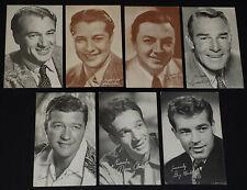 1940/50's - MOVIE STARS - ARCADE /VENDING MACHINE - EXHIBIT CARDS (7) - ORIGINAL