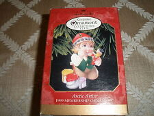 1999 Hallmark Collector Club Christmas Ornament, Arctic Artist ~T5025