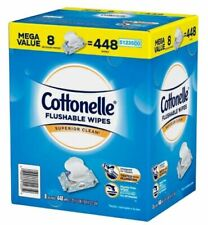 Cottonelle Flushable wet Wipes Box Of 8 Dispensers Of 56 Each
