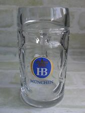 Collectable 0.5 Litre HB Munchen Dimpled Stein Beer Mug / Glass
