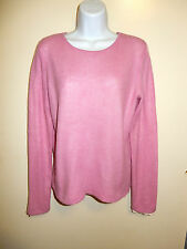 COLLECTION FIFTYNINE BLOOMINGDALE'S 100% CASHMERE PINK CREWNECK SWEATER M