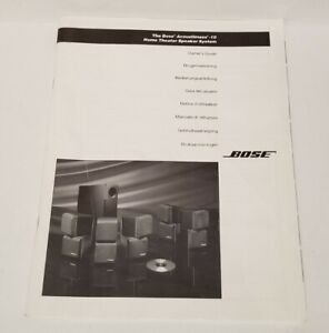 BOSE ACOUSTIMASS 10 HOME THEATER SPEAKER SYSTEM SERVICE MANUAL W/ LARGE POSTER