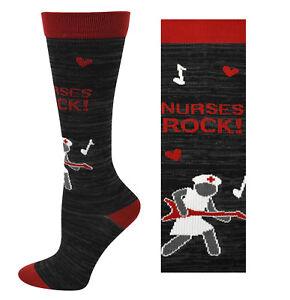 CLEARANCE! NURSES ROCK! Medical 10-14mmHG Fashion Nurse Compression Socks